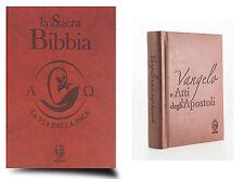 SACRA BIBBIA + VANGELO TASCABILE, SHALOM EDITORE, TESTI UFFICIALI CEI, MARRONE