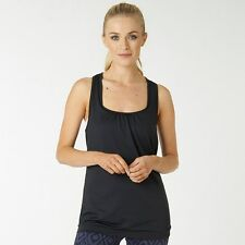 ELLE SPORT Double Layer Support Vest Size 10 BNWT RRP £39.99 Coal Mesh/Peony