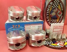 YCP P29 75mm STD BORE Pistons High Compression + Racing Rings Honda Acura D16