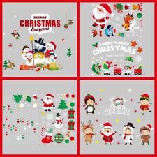 4xChristmas Decorations Window Cling Wall Stickers Decal Artistic Xmas Ornaments