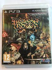 Dragon'S CROWN (PS3) COMPLETA REGNO UNITO PAL in buonissima condizione * LIBERO & VELOCE UK *