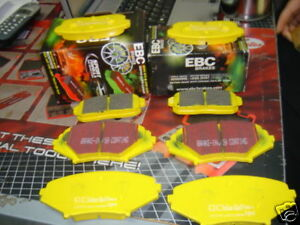 MAZDA RX8 BRAKE PADS EBC YELLOW STUFF FRONT REAR EBC YELLOW STUFF