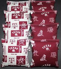 cornhole bean bags w texas a & m university aggies stoff beidseitig mit 8 taschen