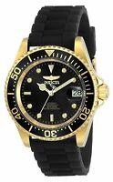 Invicta Men's Watch Pro Diver Black Dial Black Silicone Rubber Strap 23681