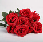 10 Heads Silk Rose Artificial Flowers Fake Bouquet Wedding Home Party Decor New