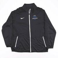NIKE Dri-Fit Black Zip Up Track Shell Sports Jacket Mens Size 2XL