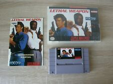 Lethal Weapon (NTSC) complete with box and manual - SNES Super Nintendo