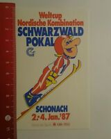 Aufkleber/Sticker: Schonach 87 Weltcup Nordische Kombination (120816149)