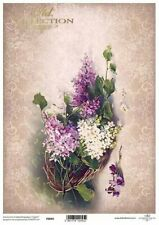 Printed Translucent Vellum Scrapbook  Paper A4 Floral Bouquet