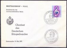 Carl F Zelter, Music Composer, Pictorial Cancellation, Germany 1976 Used Cover (
