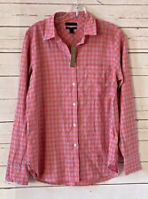 NWT J CREW Womens Size 6 Crinkle Gingham Boy Button Up Shirt Top