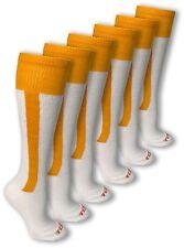 NEW Baseball Softball Socks Gold Stripe Size Medium (9-12) 3-Pair Set/Bundle