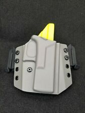 Kydex Holster, Glock 19 /19x /23/25/45 OWB  Gray and neon yellow