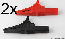 2x Krokoklemme 32A 4mm Bananenstecker Messleitung / test probe alligator clip