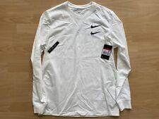 Nike Sportswear Double Swoosh Longsleeve Shirt T-Shirt - Weiß -  L Large