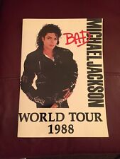 Michael Jackson Unofficial Bad Tour Programme Purchased Outside Wembley 14.7.88
