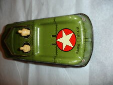 "TX ESTATE VTG Courtland 40s 50s Tin Litho US Army Vehicle Friction Toy Car 7"" #2"