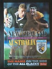3043 New Zealand v Australia 1997 Rugby Programme 5th July All Blacks Wallabies