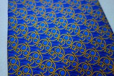 CRAVATE en 100% SOIE SILK Bleu made in France JEUMONT superbe motif !