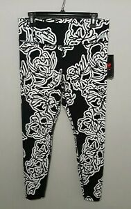 New Balance Women's High Rise Transform Printed Tight White with Black Sz XL