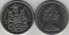 1973 Canada Half Dollar Coin. UNC. Fifty Cent 50 Cents Coins