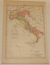 Old Map of Italy in the Roman Era (1880)