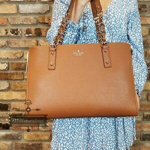 KATE SPADE  Andee Cobble Hill Leather Tote  Warm Gingerbread Shoulder BAG NWT