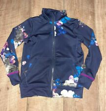 Girls Joules Navy Floral Stretch Jacket Age 3-4 Years Lightweight Activewear