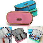 Student Women Canvas Pen Bag Pencil Case Travel Cosmetic Makeup Bags Pouch Box