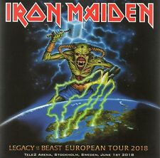 IRON MAIDEN - LEGACY OF THE BEAST TOUR STOCKHOLM 01/06/18 - 2CD CARDBOARD SLEEVE