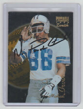 MICHAEL IRVIN Cowboys SIGNED 1996 Zenith Football #Z-24 Autograph ON CARD AUTO