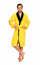 Star Trek Adult Captain Kirk Fleece Costume Cosplay Yellow Bath Robe Free Size