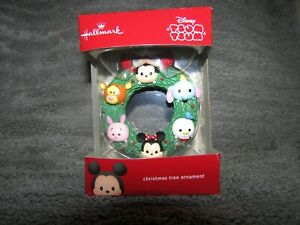 NEW 2017 Hallmark Disney TSUM TSUM Mickey Dumbo Piglet Wreath Christmas ornament