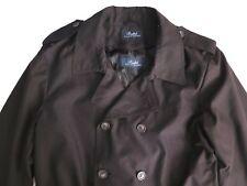 Ralph Lauren Men's Trench Coat Zip Lining Black Size XXL - UK 46R Immaculate