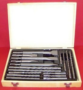 17PC Drill Bits & Chisel SDS PLUS Rotary Hammer BIt Set Fits Bosch & Hilti Plus