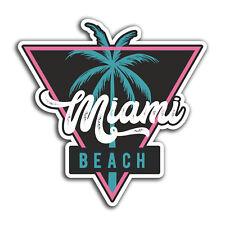 2 x 10cm Miami Beach USA Vinyl Stickers - Travel Sticker Laptop Luggage #23383