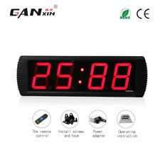 [Ganxin]4''Large multifunctional led digital wall clock red electronic timer