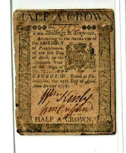 "(2 SHILLINGS & 6 PENCE) ""HALF A CROWN"" 1776 RARE!!! 2 SHILLINGS & 6 PENCE! NICE!"