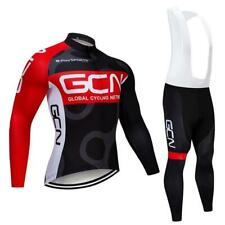 Tour De France 2020 Pro Team Gcn Winter Cycling Jersey Thermal Fleece Clothing B