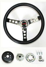 1960-1969 Chevrolet Chevy Pick Up Grant Black Steering Wheel BLK/RD 13 1/2