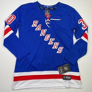 New York Rangers Henrik Lundqvist Women's Large Fanatics Breakaway Blue Jersey