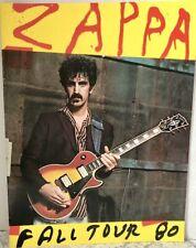 Vintage Frank Zappa Souvenir Fall Tour 1980 Program