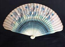 VERY PRETTY VINTAGE ART DECO 1920s-30s LADIES HANDPAINTED WOODEN FAN
