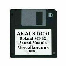 Akai S1000 Floppy Disk Roland MT-32 Sound Module Miscellaneous Disk 3