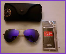 New Ray Ban RB3025 Large Aviator 112/68f Size 58-14 Purple Matte Gold Frames