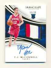 2015-16 PANINI IMMACULATE T.J. TJ MCCONNELL RC 3CLR PATCH AUTO RPA 76ERS #55/99