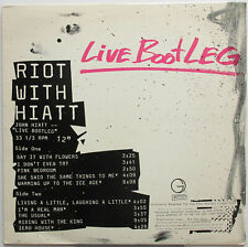 "JOHN HIATT Riot With Hiatt 1985 US Promo Only Official ""LIVE BOOTLEG"" LP KBFH"