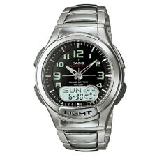 Casio AQ-180WD-1BV Stainless Steel Black Digital Analog Sports Watch w Casio Box
