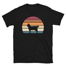 Retro Sunset Kitten Feline Pet American Bobtail Cat Short-Sleeve Unisex T-Shirt