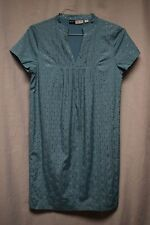 Womens Dress Size 6 By Chloe Dao Blue Pull Over Lined Short Sleeve Pleated